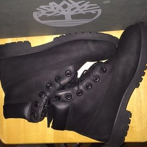 Timberland 6in Black Youth Boot
